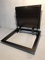 Люк в погреб герметичный утепленный 700*600. Напольный люк в пол, подвал на газовых амортизаторах., фото 1