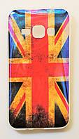 Чехол на Самсунг Galaxy J1 (2016) J120H Силикон перламутр Флаг Великобритании, фото 1