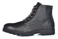 Мужские ботинки кожаные зимние черные завышенные Mustang Португалия, Черный, 41