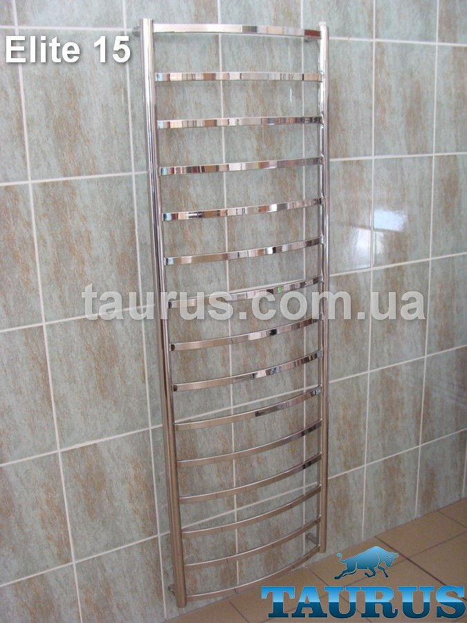 Величезний полотенцесушитель н/ж Elite 15 /1550х450 мм для великої ванної кімнати. Водяний, електро, гібрид. 1/2