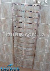Громадный водяной полотенцесушитель Elite 15 /1550х500 из н/ж стали. Плоская перемычка 20х10.