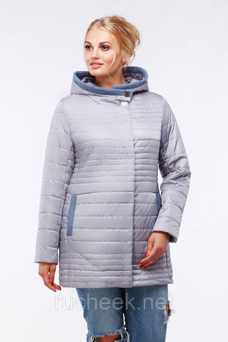Женская куртка большие размеры Розалия р-ры 48 - 56,  TM NUI VERY свет