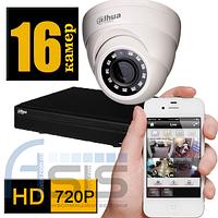 Комплект системы видеонаблюдения на 16 камер 720P