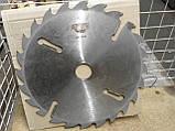Пильный диск. с подрезными ножами. 500х50х18+6. Пильный диск по дереву. Циркулярка. Дисковая пила.Диск пильный, фото 3