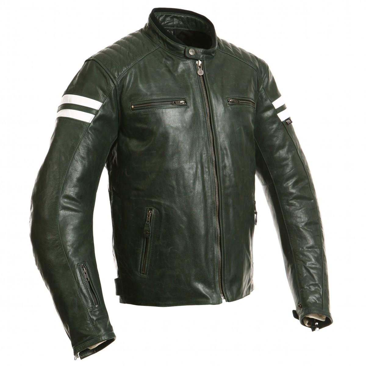 Куртка SEGURA кожа RETRO olive (4XL), арт.SCB899, арт. SCB899