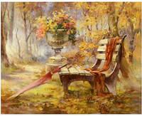 Живопись 50*40 осень пейзаж, рисование по номерам
