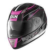 Мотошлем IXS HX 1000 Scale черный розовый белый M