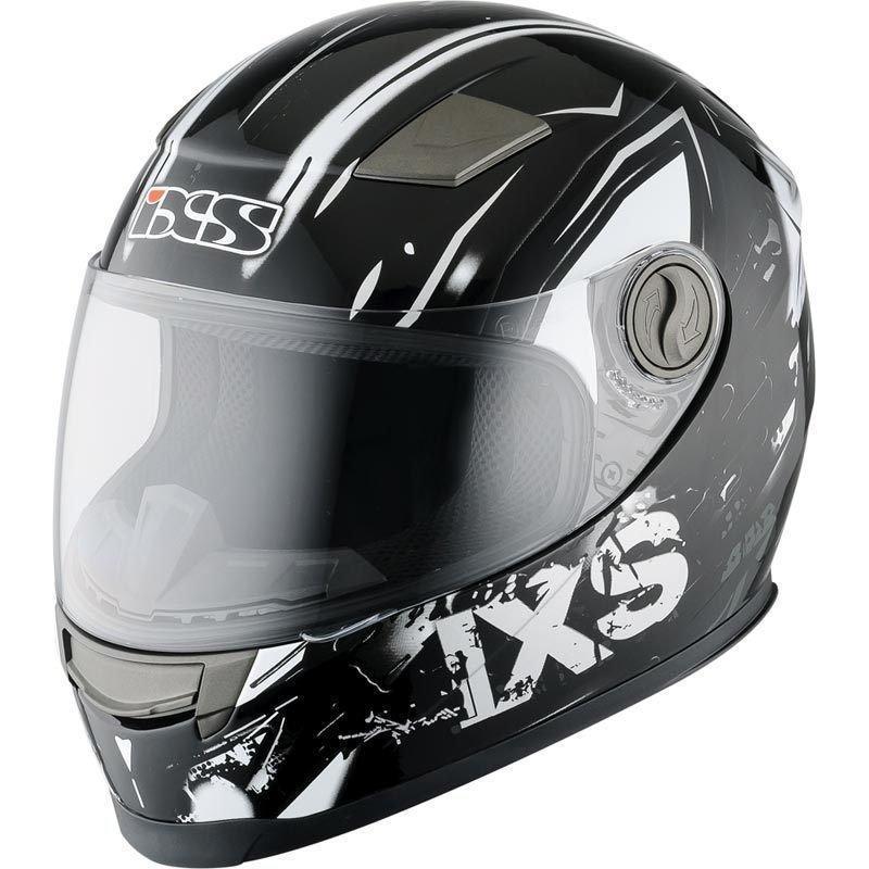 Мотошлем детский IXS HX 135 Funky черный серый белый 54