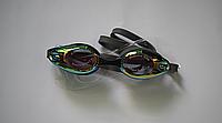 Очки для плавания зеркальные с антифогом DOLVOR adult DARK GREY