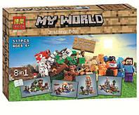 """Конструктор Bela """"Minecraft 8 в 1"""" 10177 (79072) 517 дет , фото 1"""