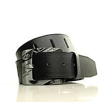 Кожезаменитель матовый на джинсы  Ремень L4511W3 черный