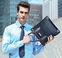 Мужская кожаная сумка. Модель 61210, фото 8
