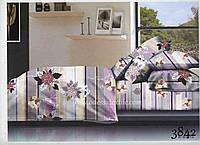 Семейный комплект постельного белья ELWAY 3842 сатин