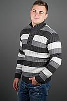 """Джемпер мужской с пуговицами """"Вильям"""" р. 48-52 черный"""