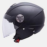 Шлем открытый MT City Eleven черный матовый, M