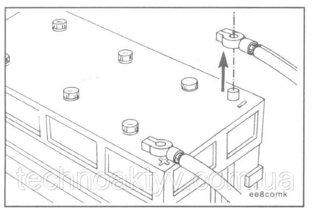 Отсоедините от аккумулятора массовый провод. Промаркируйте провода и навесьте на них бирки. Снимите ремень привода агрегатов.
