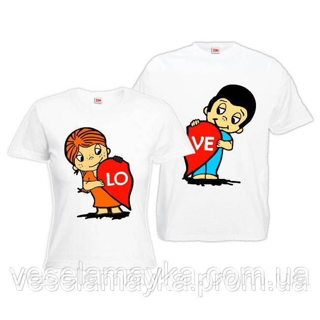 "Парная футболка ""Love is 2"""
