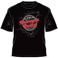 IOMTT Motorcycle Racing Map Retro T-Shirt, Black - Черный, M