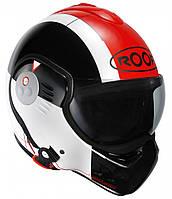 Мотошлем ROOF Boxer V8 Star черный красный 54 (XS)