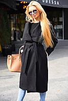 Женское кашемировое осеннее пальто отличное качество длинное 2 цвета