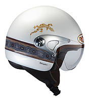 Мотошлем ROOF Abo Pearl белый 58 (M)