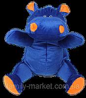 Плюшевая игрушка Бегемотик синий 50 см