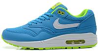 Женские кроссовки Nike Air max 87 Голубые с салатовым, фото 1