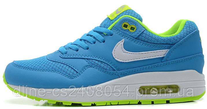 78f52796 Женские кроссовки Nike Air max 87 Голубые с салатовым - KROSIKI Обувной  интернет магазин в Киеве