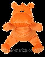 Бегемотик плюшевый оранжевый 50 см