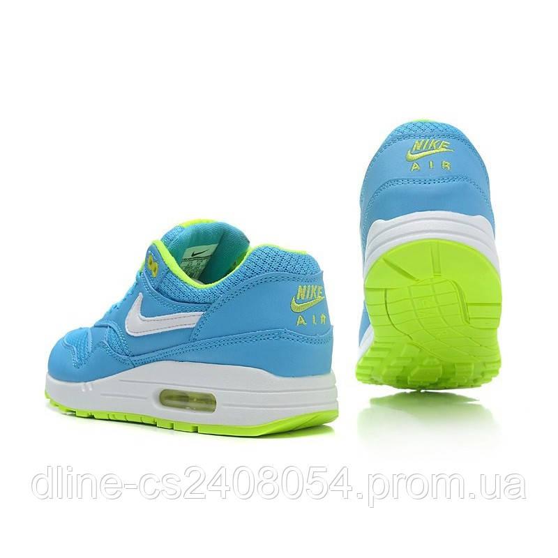 fb97d04b Женские кроссовки Nike Air max 87 Голубые с салатовым купить - в ...