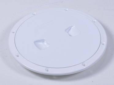 Лючок инспекционный, белый,  диаметр 15,3см, фото 2