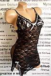 Черно-белый пеньюар кружевной, фото 2
