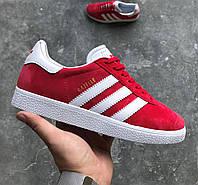 Женские кроссовки Adidas Gazelle Red, адидас газели