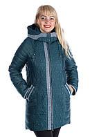 """Стёганая женская зимняя куртка от 'Rolana'. """"Изумруд"""""""