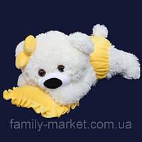Мишка-малышка 45 см с желтой подушкой игрушка для детей