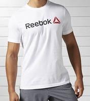 "Белая мужская футболка ""Reebok"", рибок белый"