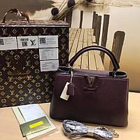 Кожаная сумка Louis Vuitton Capucines в разных расцветках