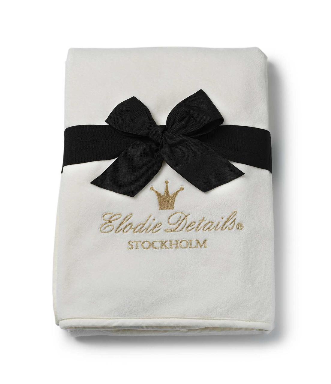 Детский плед Elodie Details - Pearl Velvet Blanket - Vanilla White