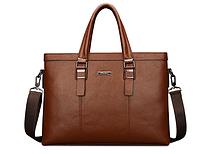 Мужская кожаная сумка. Модель 61214, фото 4