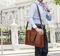 Мужская кожаная сумка. Модель 61214, фото 6