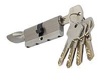 PALADII циліндровий механізм латунний з вставкою 70ммТ(30*40) з вертушком. 5 гібридних ключа сатен