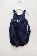 Синий в белый горошек Боди-ромпер для девочки от NAUTICA
