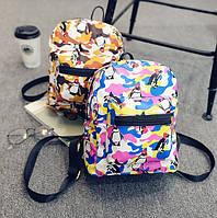 Женский мини рюкзак с пингвинами