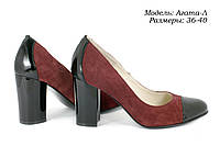Женские туфли на широком каблуке., фото 1