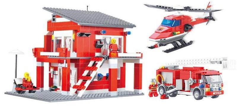 Конструктор Пожарный участок 561 деталь
