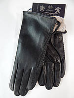 Кожаные женские перчатки на кролике оптом Gloves