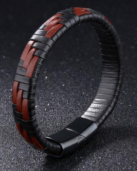 Мужской кожаный браслет Primo Cowboy Lux