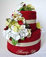 """Торт з рушників """"Червоний"""", фото 1"""