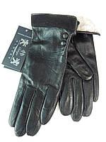 Кожаные женские перчатки на кролике оптом