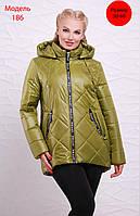 Демисезонная женская куртка прямого силуэта, в расцветках, р-р 50-64